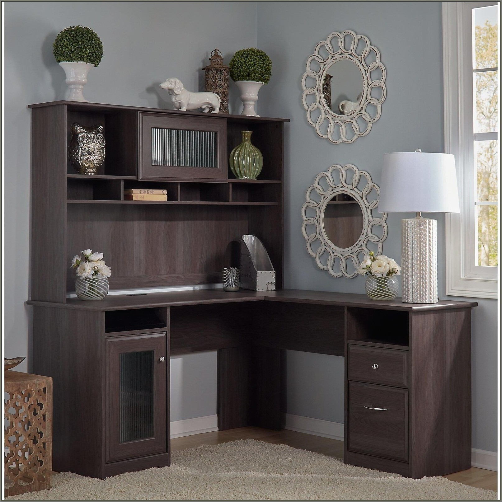 Bush Furniture L Shaped Desk With Hutch