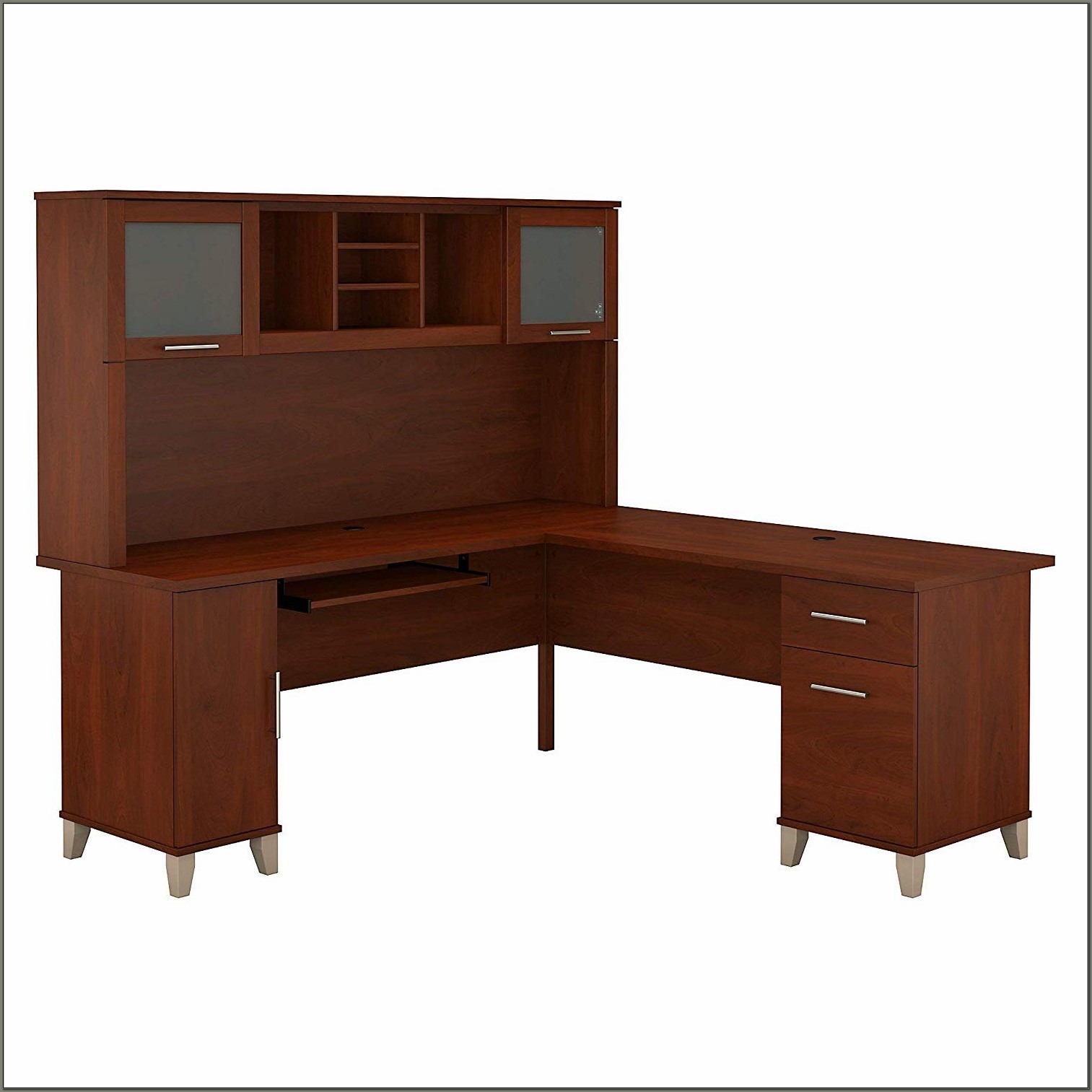 Bush L Shaped Desk With Hutch