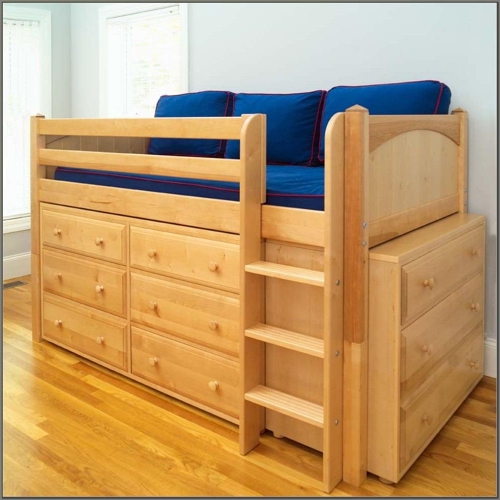 Charleston Storage Loft Bed With Desk Natural