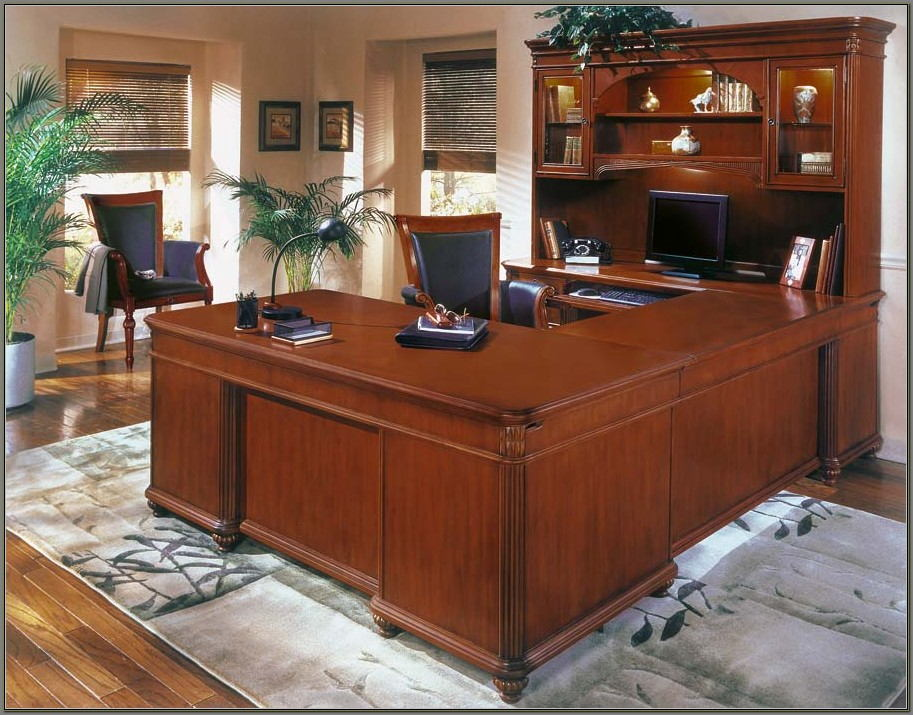 Cherry Wood Executive Desk