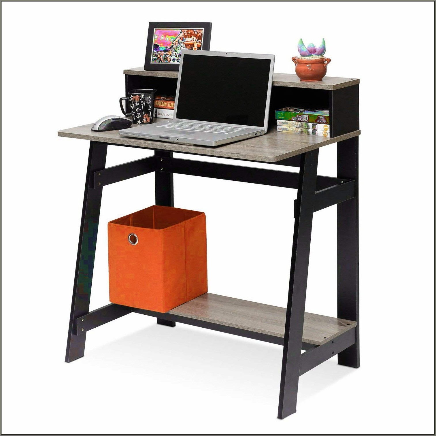 Compact Desk With Hutch