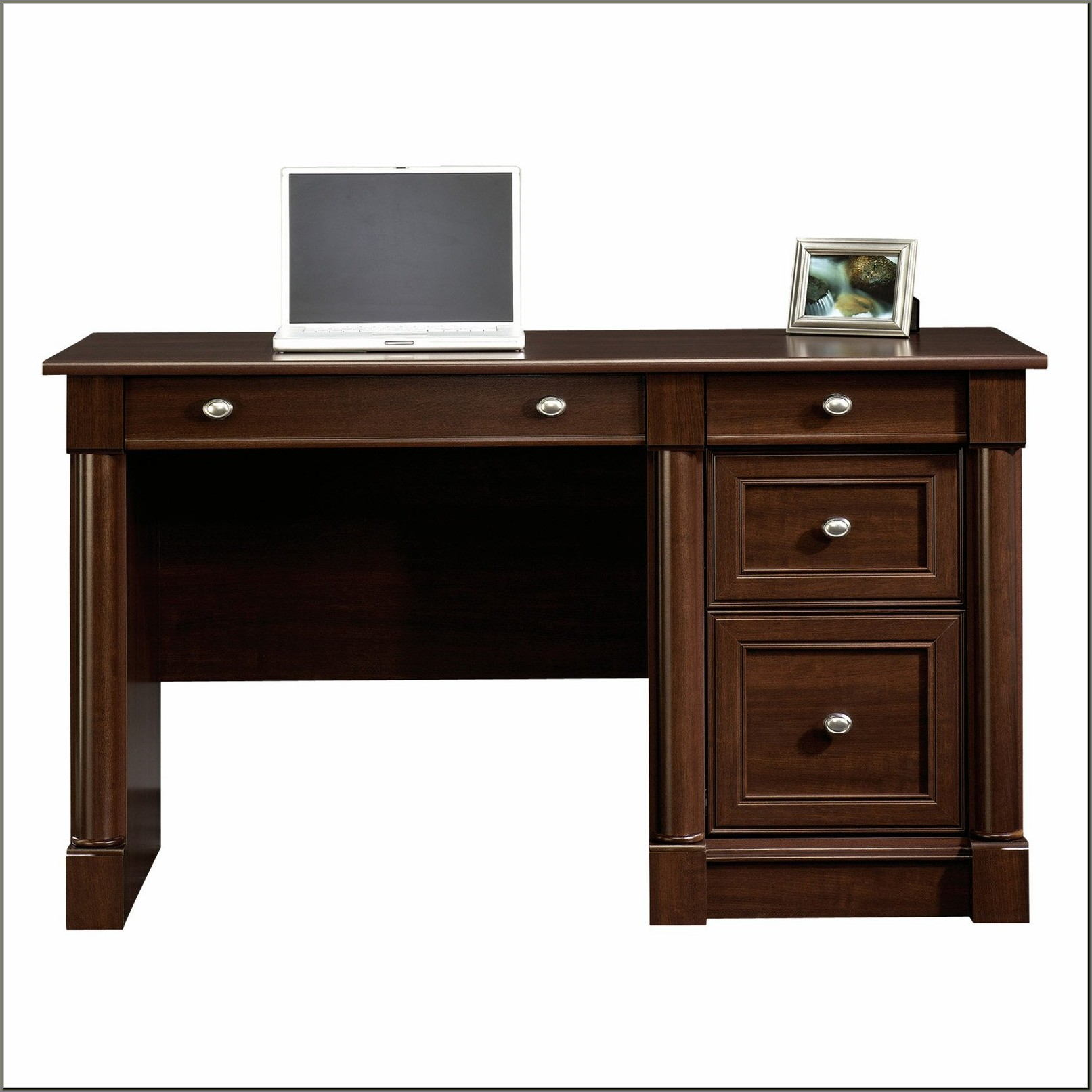 Computer Desk Cherry Finish