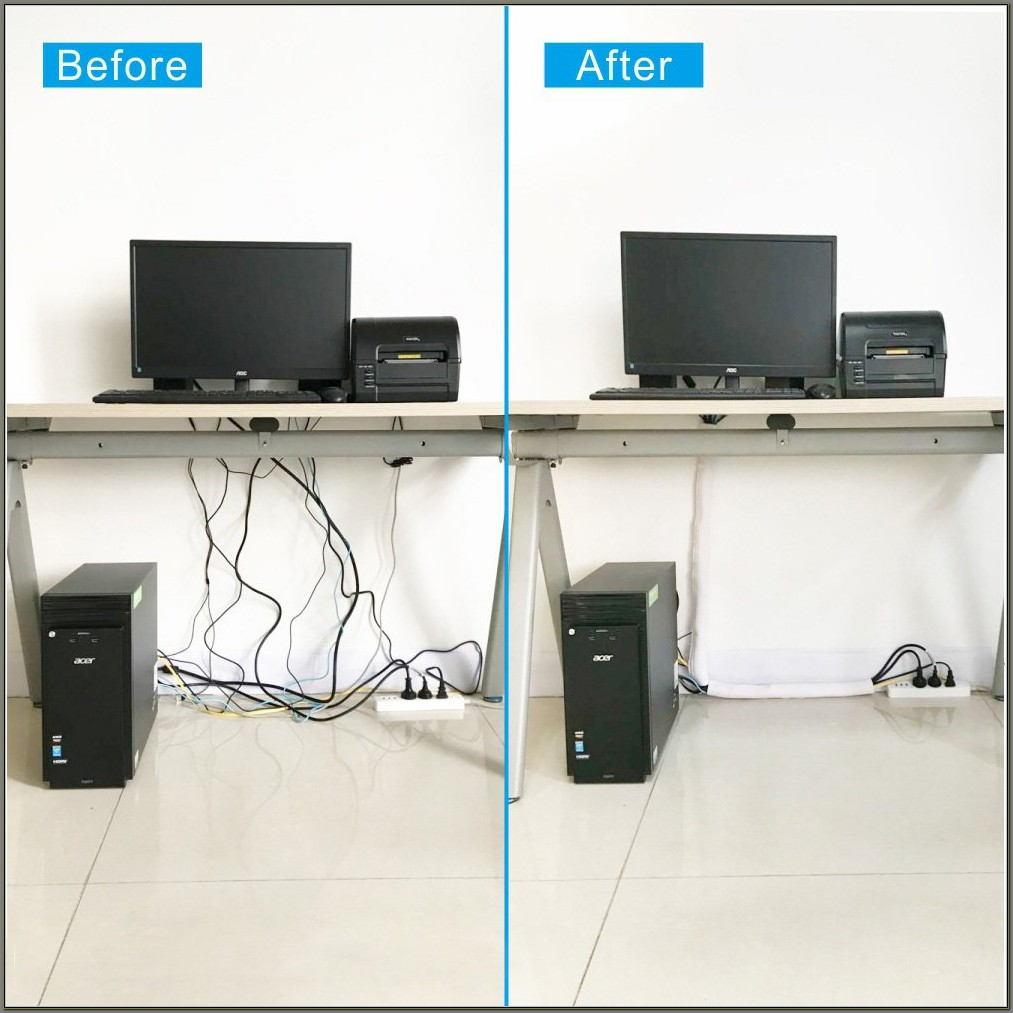Computer Desk Cord Management