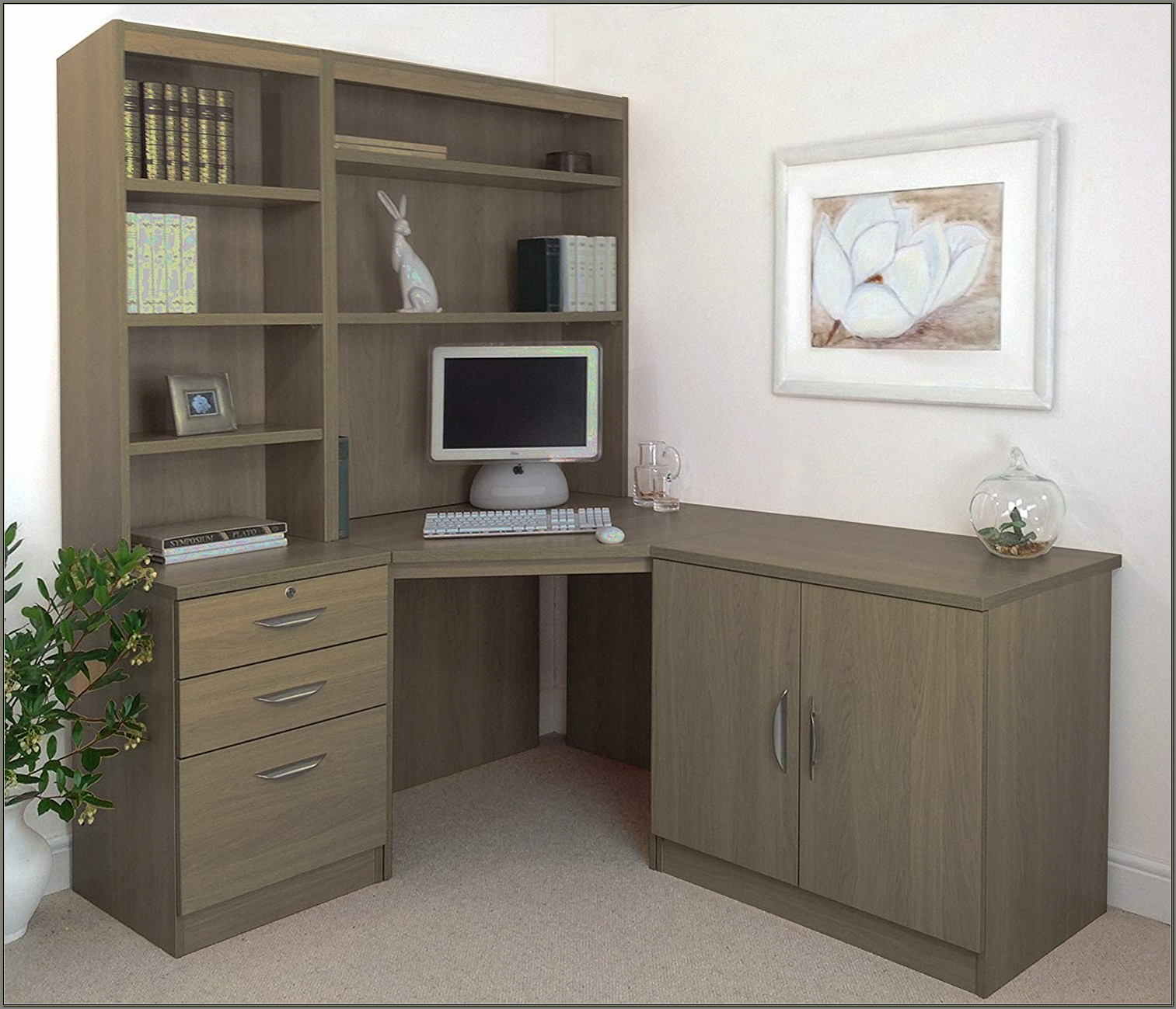 Computer Desk Hutch With Doors