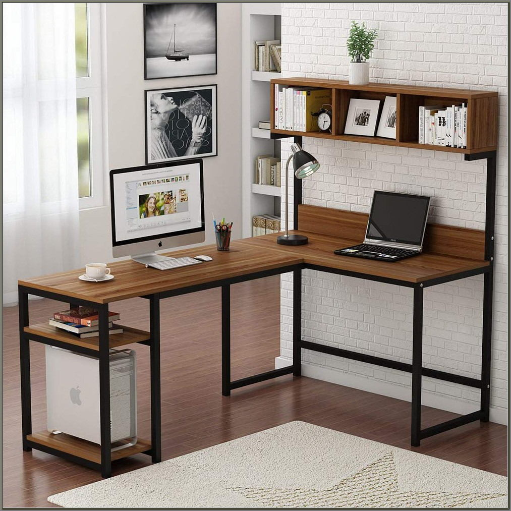 Computer Desk L Shaped With Hutch