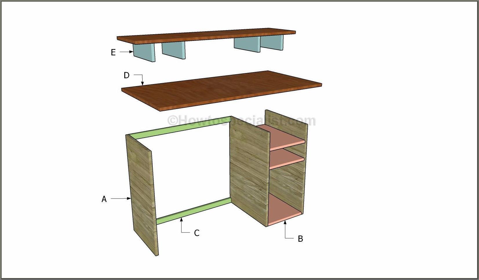 Computer Desk Plans Woodworking Free