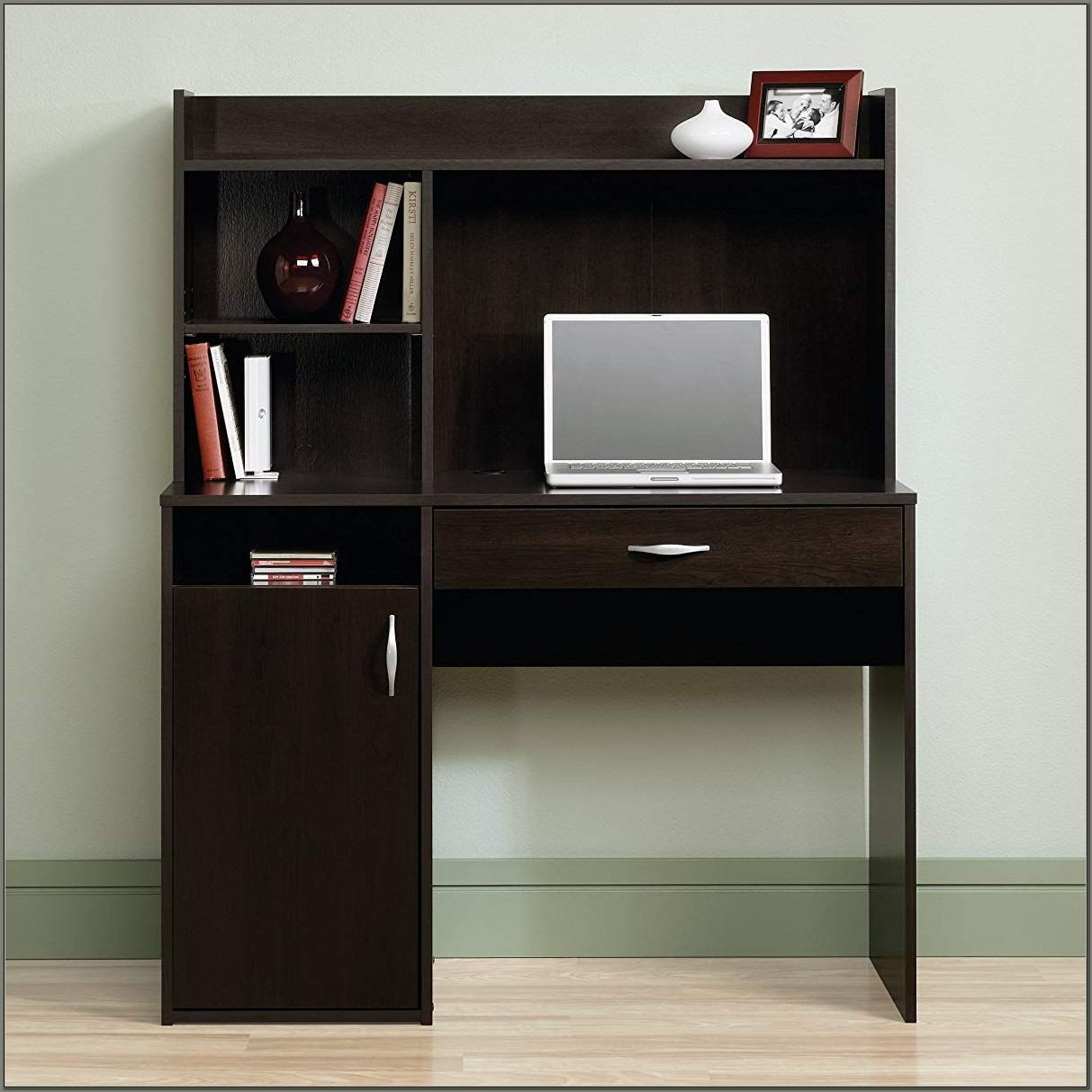 Computer Desk With Hutch Cherry Finish