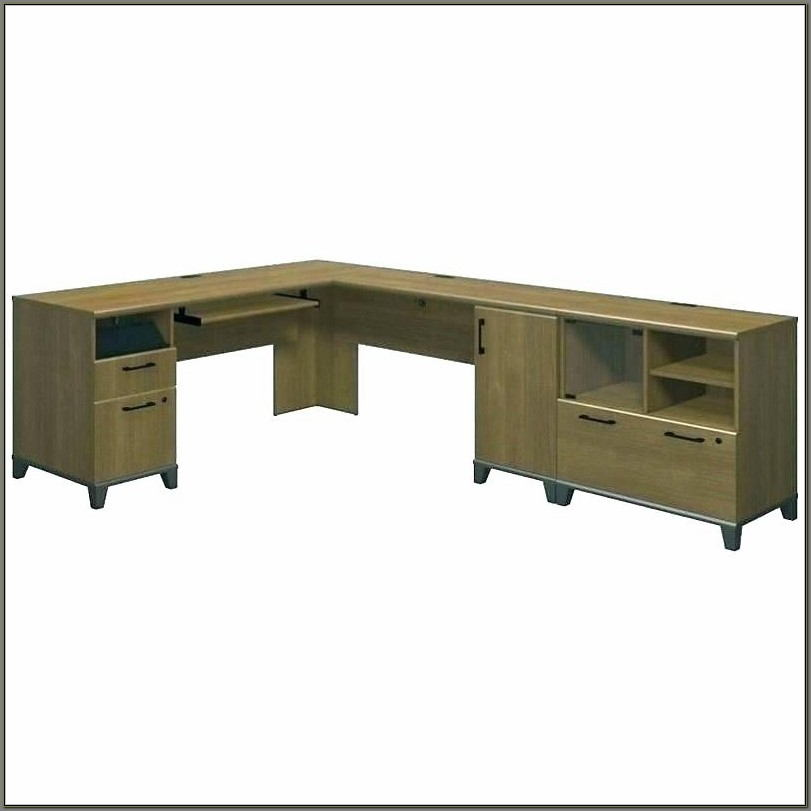 Computer Desk With Printer Shelf And Drawers