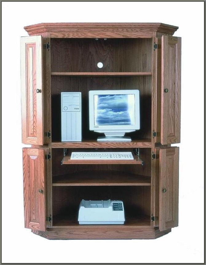 Corner Computer Desk Armoire
