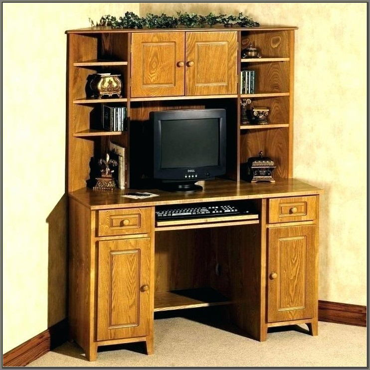 Corner Computer Desk With Hutch For Home