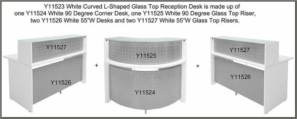 Curved L Shaped Reception Desk