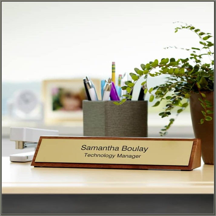 Custom Desk Name Plaques