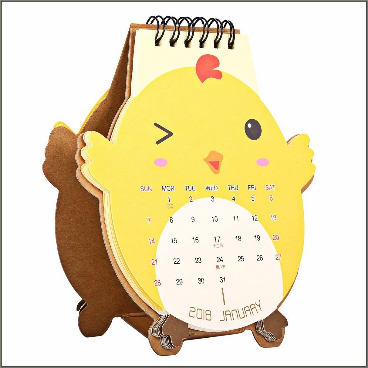 Cute Desk Pad Calendar 2017