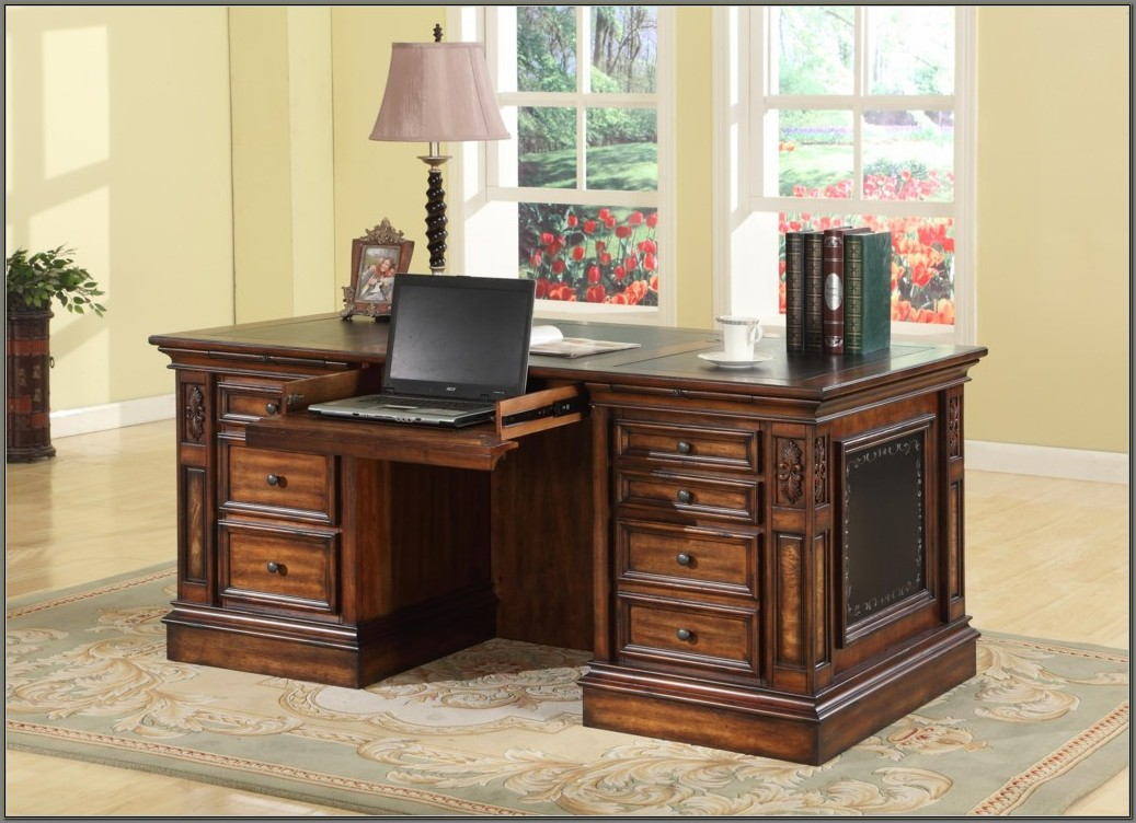Desk With 2 File Drawers
