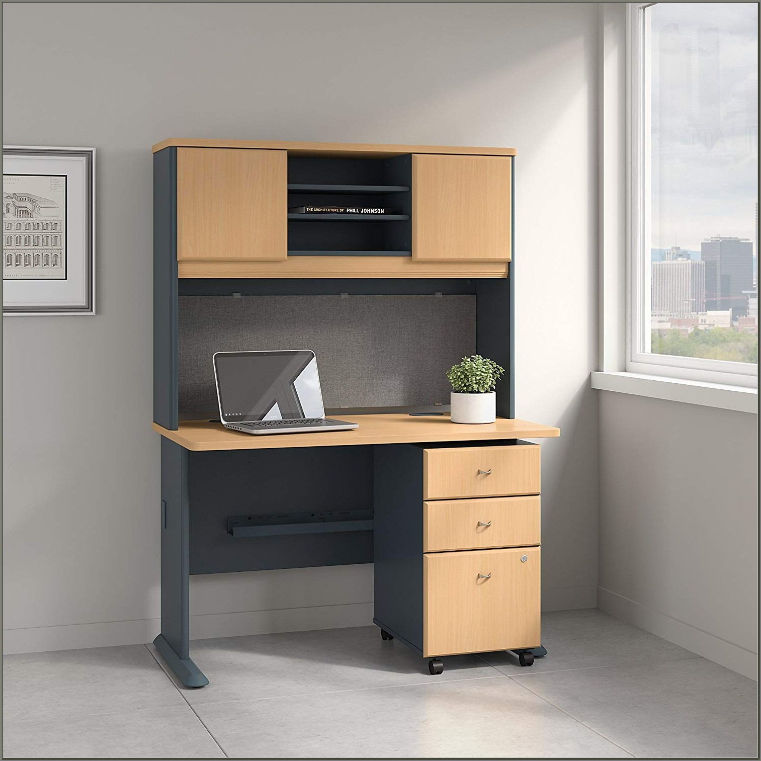 Desk With A Hutch