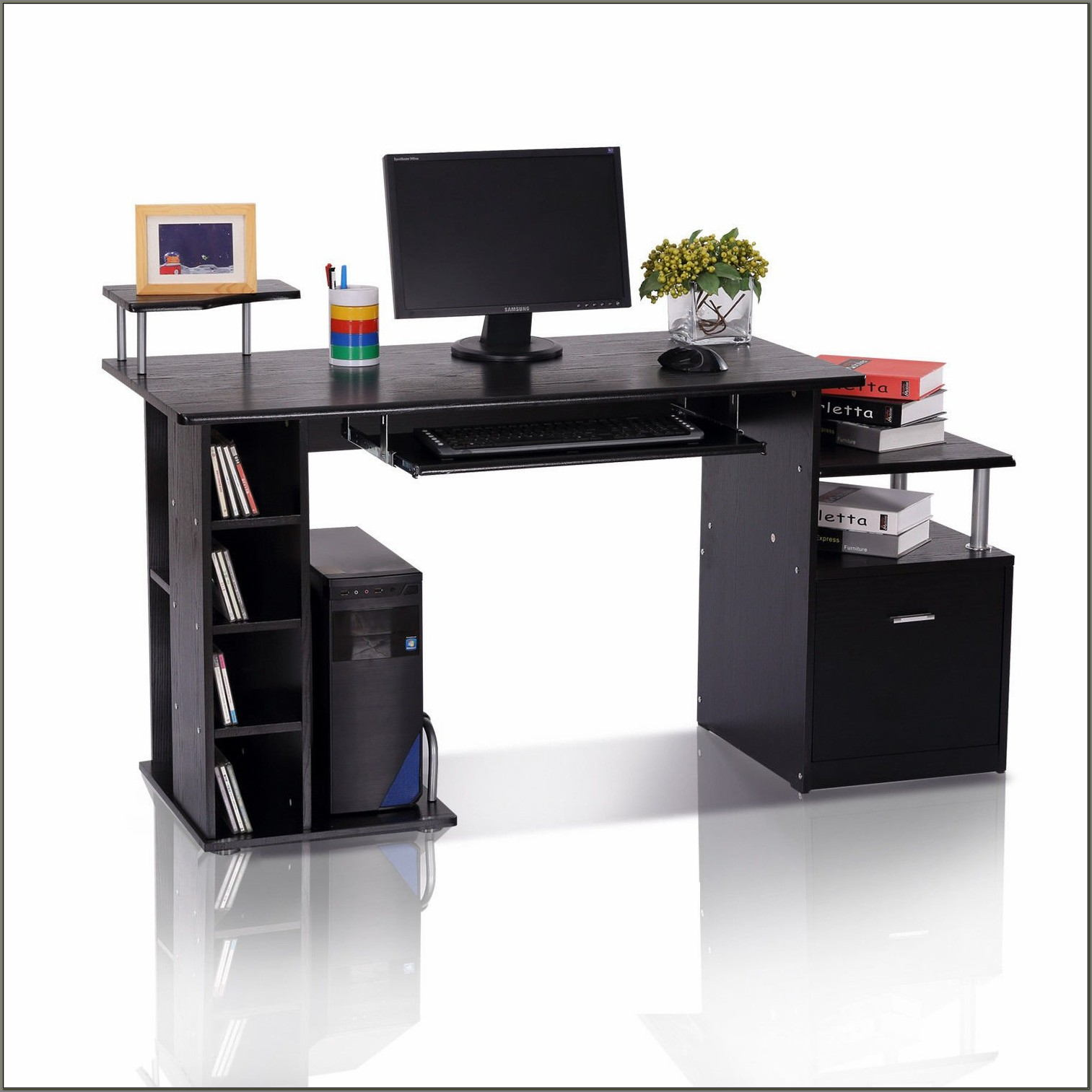 Desk With Cpu Storage