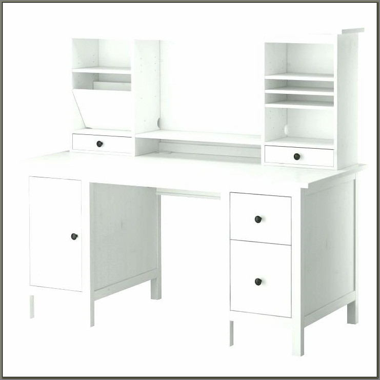 Desk With Drawers And Shelves