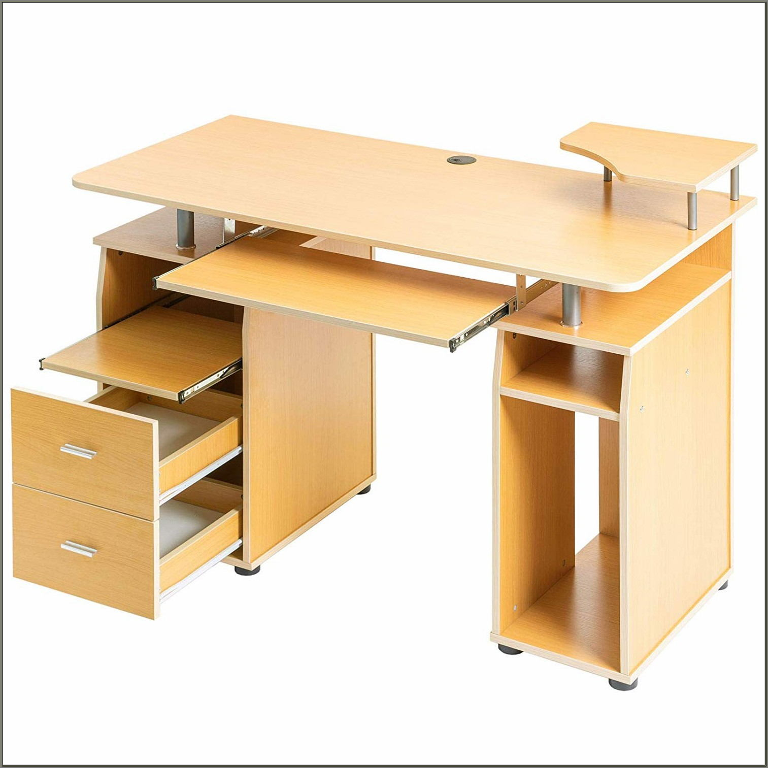 Desk With Pull Out Keyboard Tray