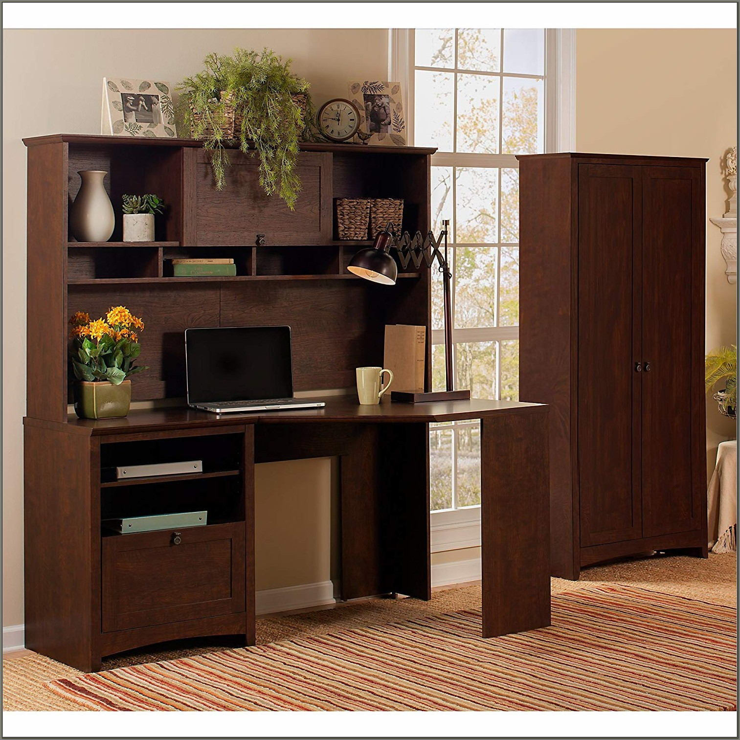 Desk With Tall Hutch