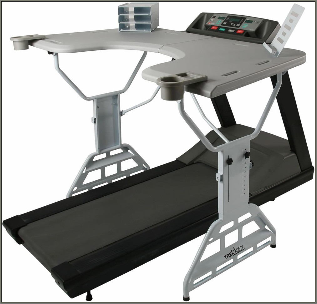 Desk With Treadmill Attached