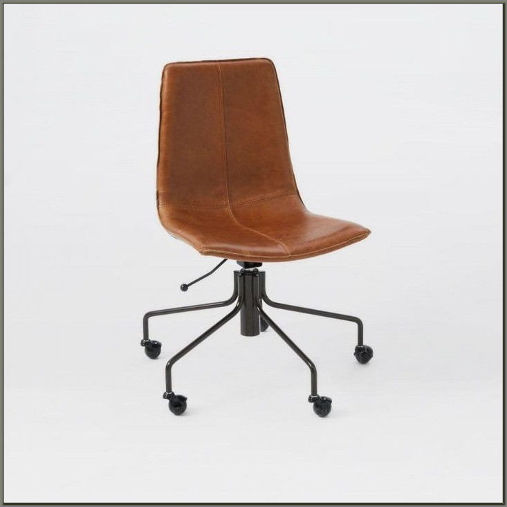Distressed Leather Desk Chair