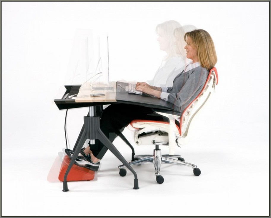 Ergonomic Desk And Chair Set Up