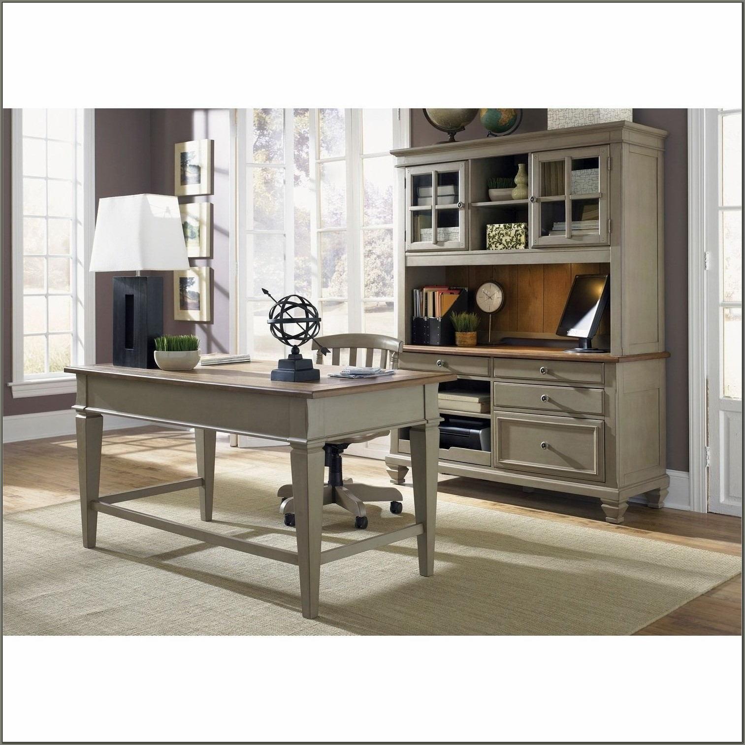 Executive Desk And Hutch Set