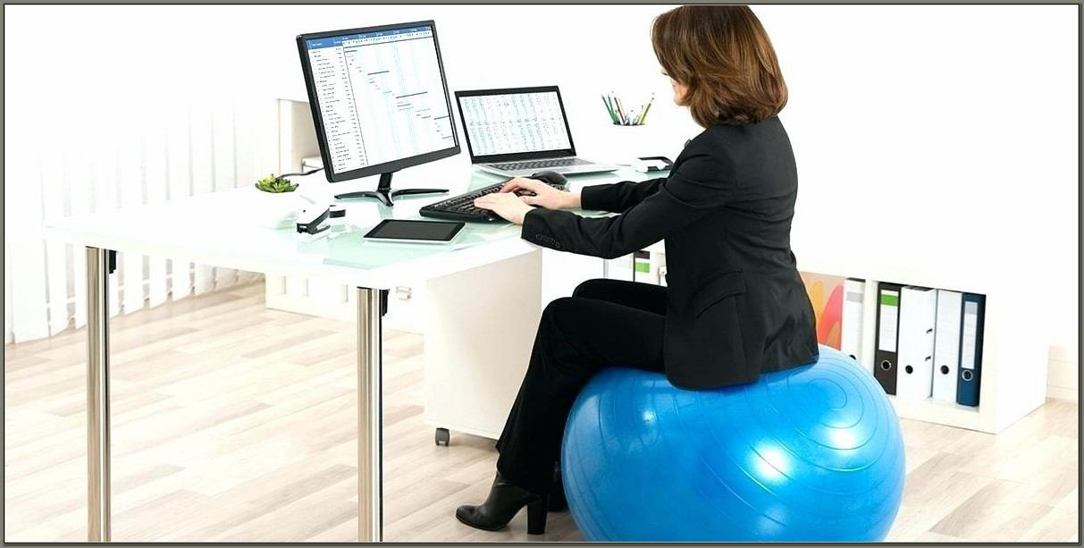 Exercise Ball As Desk Chair Size
