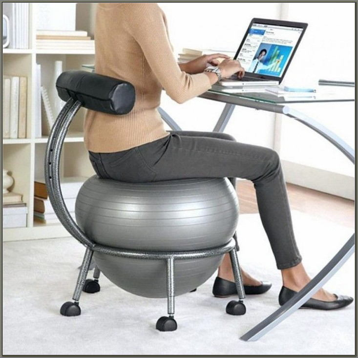 Exercise Ball As Desk Chair