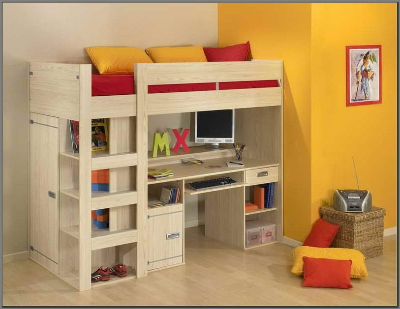 Girls Bunk Beds With Desks Underneath