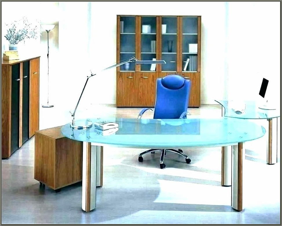 Glass Executive Desk Office Furniture