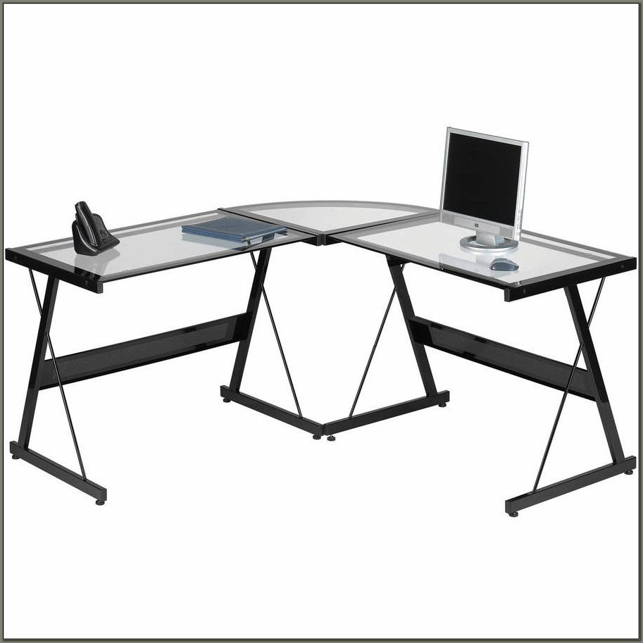 Glass L Shaped Desks