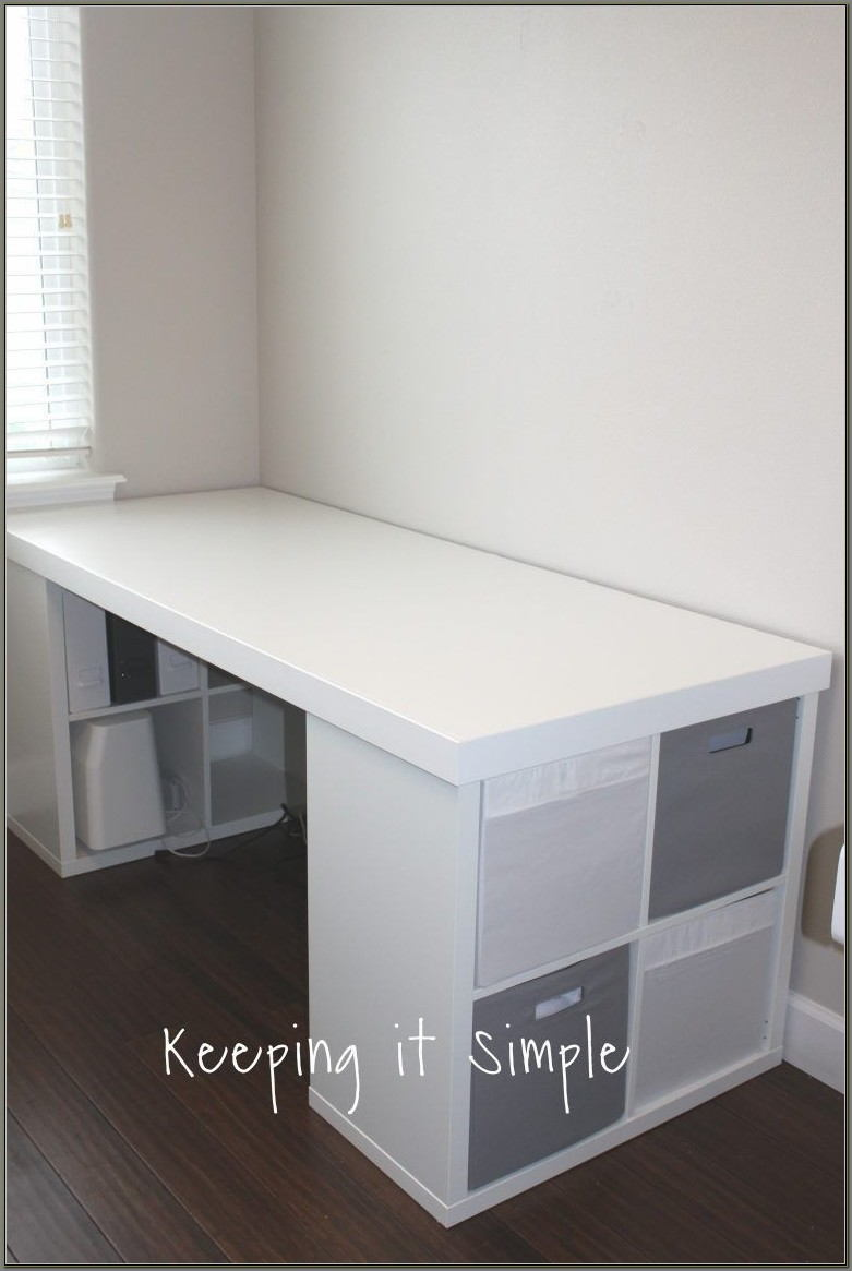 Ikea Desk With Shelves