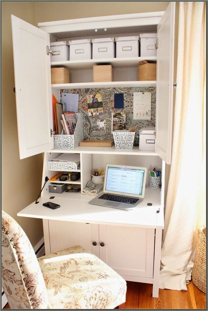 Ikea Hemnes Secretary Desk With Hutch