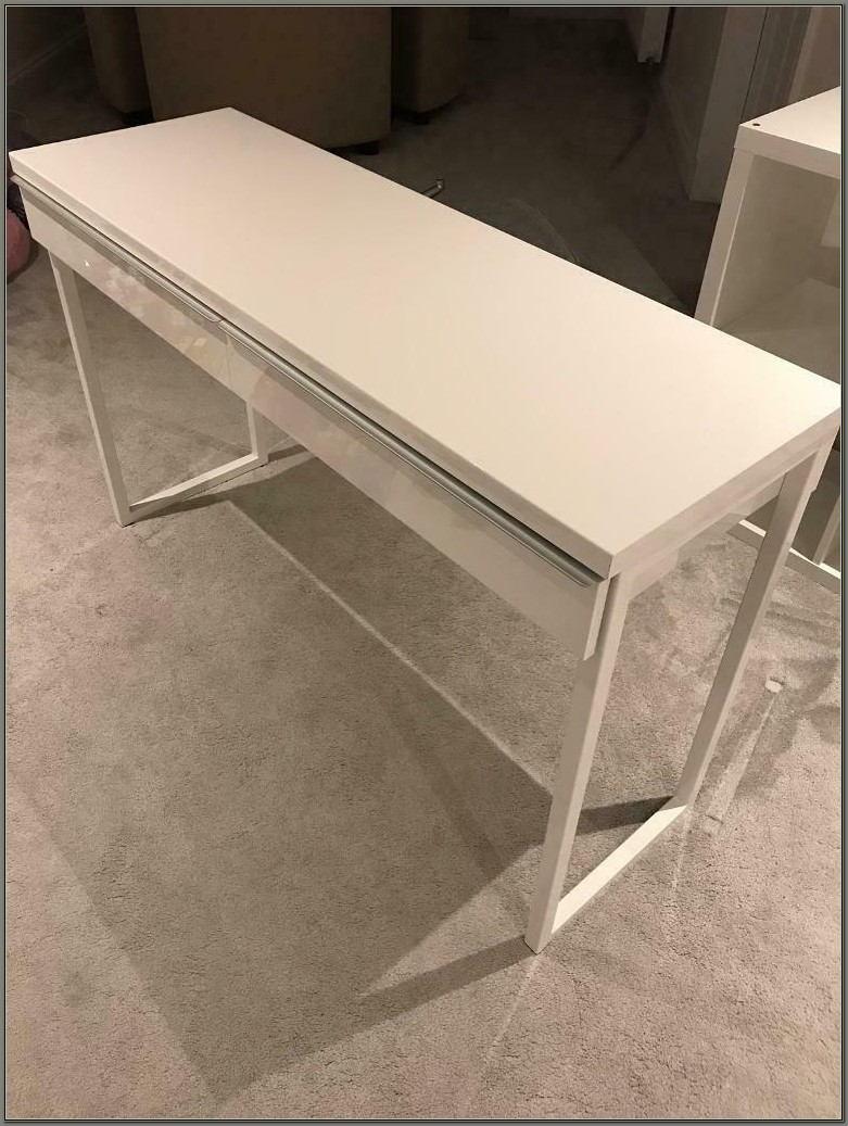 Ikea White Gloss Desk