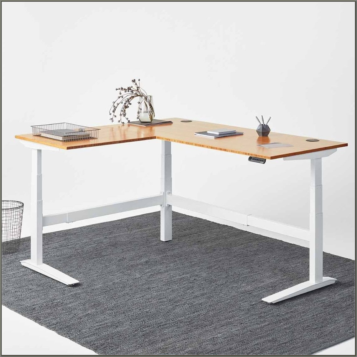 L Shaped Adjustable Standing Desk