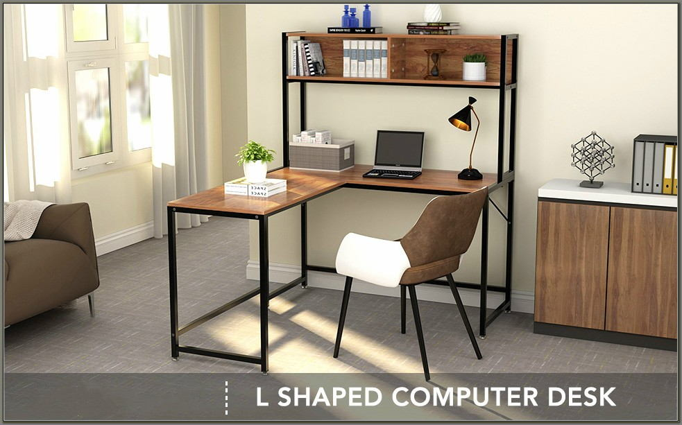 L Shaped Corner Desk With Hutch