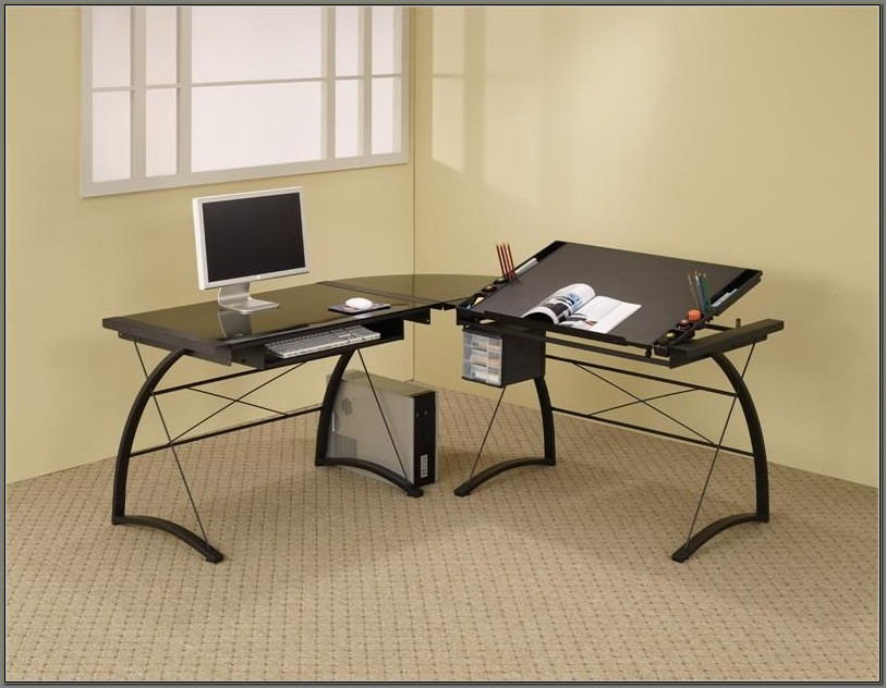 L Shaped Drafting Desk