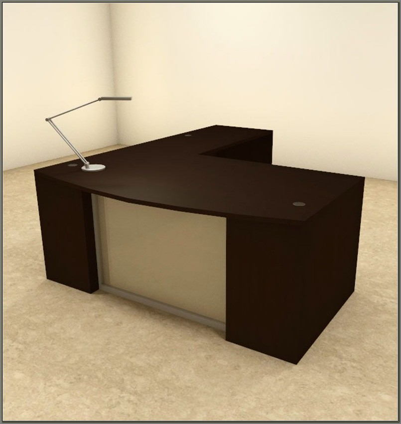 L Shaped Executive Desk Set