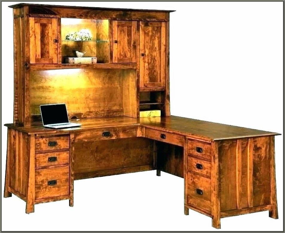 L Shaped Executive Desk Solid Wood