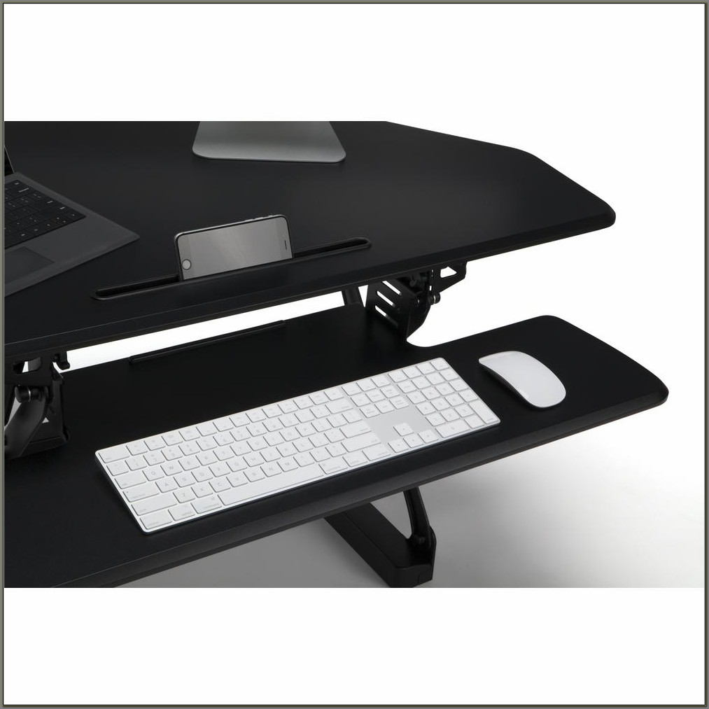 L Shaped Standing Desk Converter