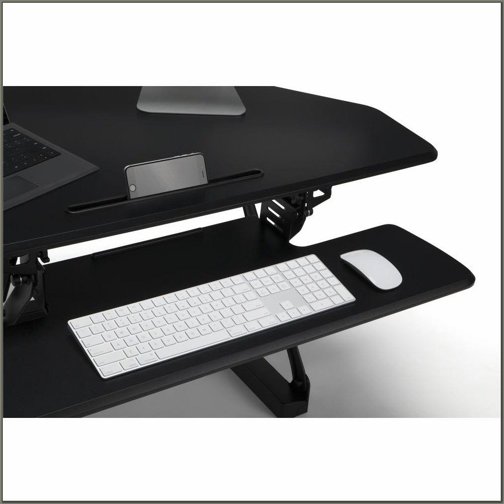 L Shaped Standing Desk Converter