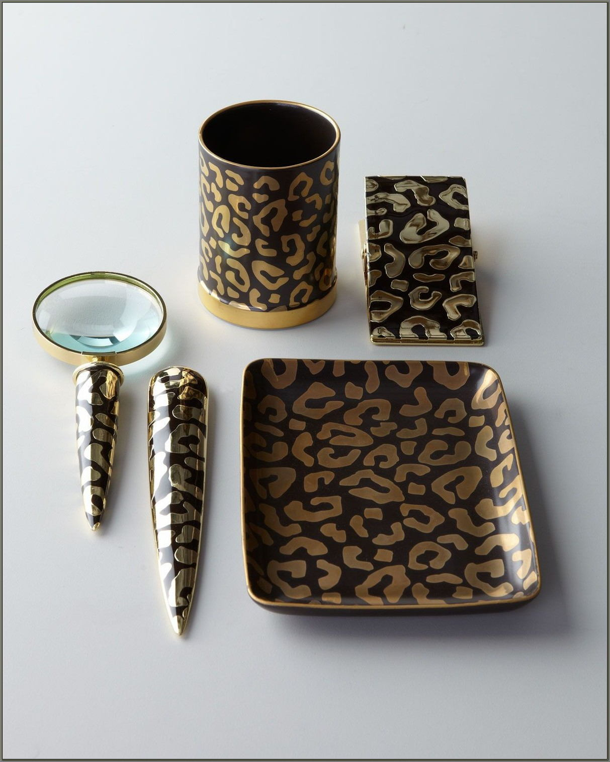 Leopard Print Desk Accessories
