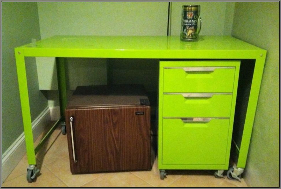 Lime Green Computer Desk