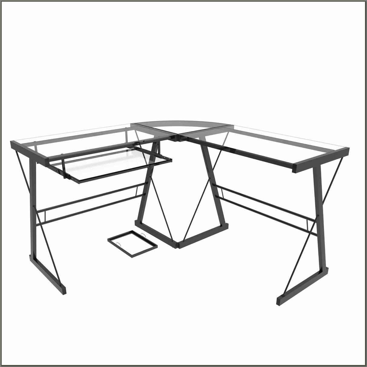 Madison Clear Glass Computer Desk