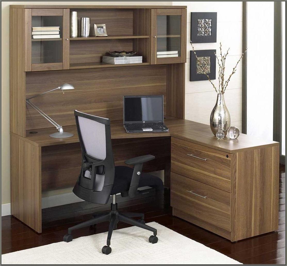 Modern Corner Desk With Hutch