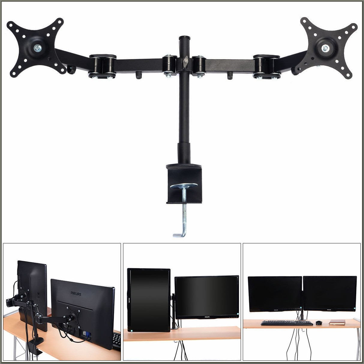 Monitor Arm Desk Mount Stand