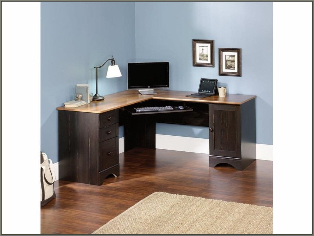 Oak Corner Computer Desks For Home