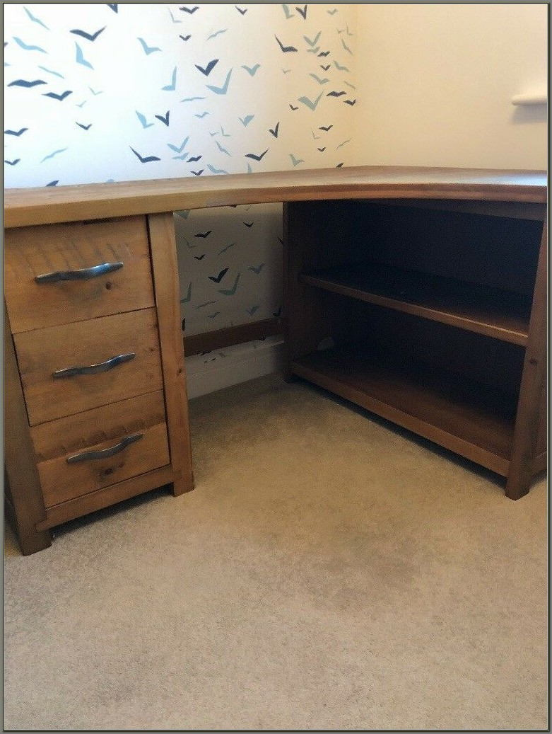 Oak Corner Desk Home Office
