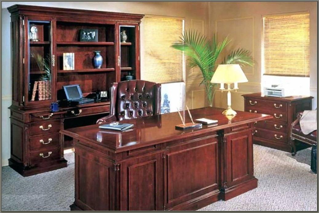 Office Desk And Credenza Set